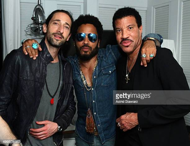 Adrien Brody Lenny Kravitz and Lionel Richie attend DuJour Magazine's Jason Binn Celebrates Annual Art Basel Miami Beach KickOff Party presented by...