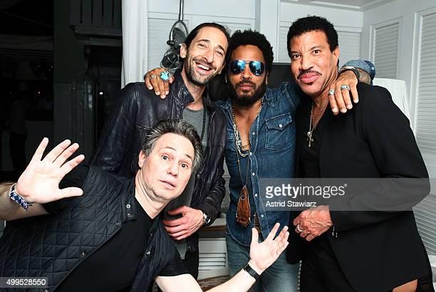 Adrien Brody Lenny Kravitz Lionel Richie and Jason Binn attend DuJour Magazine's Jason Binn Celebrates Annual Art Basel Miami Beach KickOff Party...