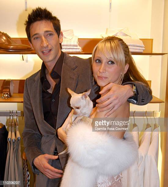 Adrien Brody Michelle Dupont and dog Ceelo Vicious