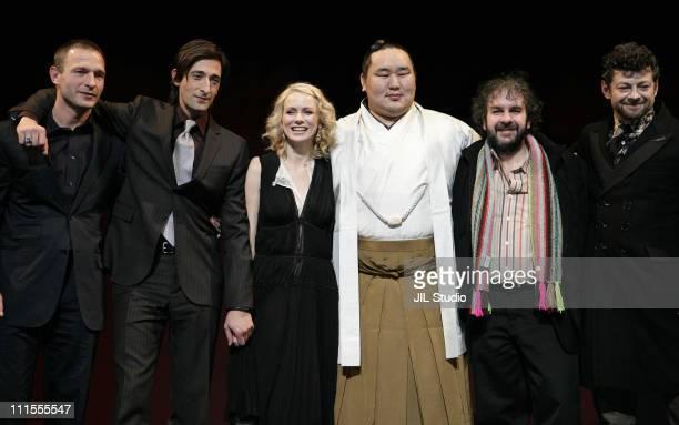 Adrien Brody Naomi Watts Thomas Kretschmann Yokozuna Asashoryu Mongolian born Sumo Wrestling Grand Master Peter Jackson and Andy Serkis