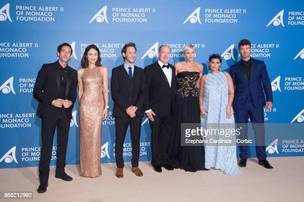 Adrien Brody Olga Kurylenko Lior Suchard Prince Albert II of Monaco Princess Charlene of Monaco Nelly Furtado and Robin Thicke attend the Inaugural...