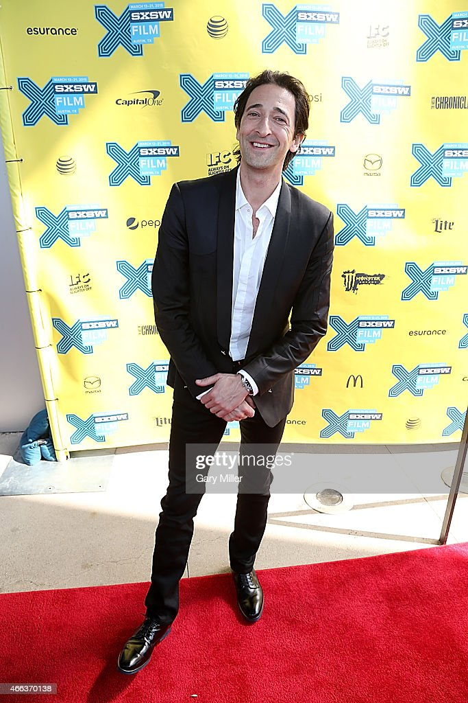 Adrien Brody poses on the red carpet for a screening of 'Stone Barn Castle' at the Topfer Theater during the South by Southwest Film Festival on March 14, 2015 in Austin, Texas.