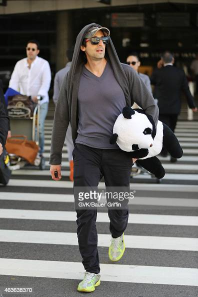 Adrien Brody seen at LAX on February 16 2015 in Los Angeles California