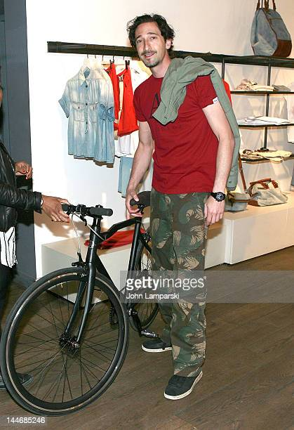 Adrien Brody seen at the Diesel Store on May 17 2012 in New York City