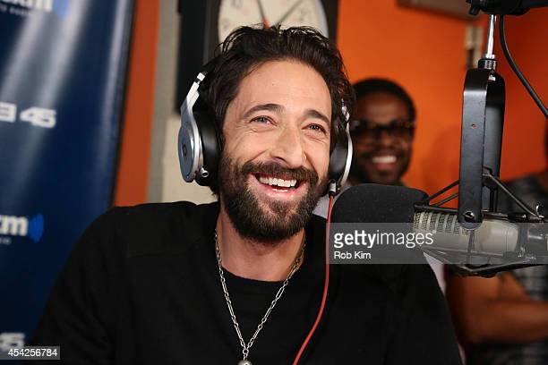 Adrien Brody visits 'Sway in the Morning' with Sway Calloway on Eminem's Shade 45 at the SiriusXM Studios on August 27 2014 in New York City