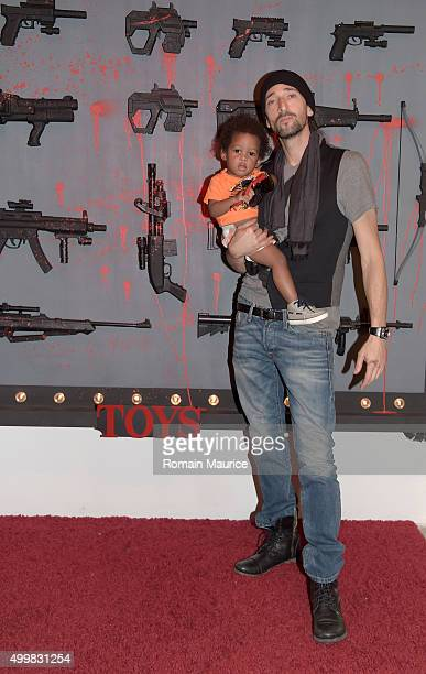 Adrien Brody with little guest pose at Haute Living Adrien Brody Cover Release Party with Jet Lux InList and Zacapa at Lulu Laboratorium on December...