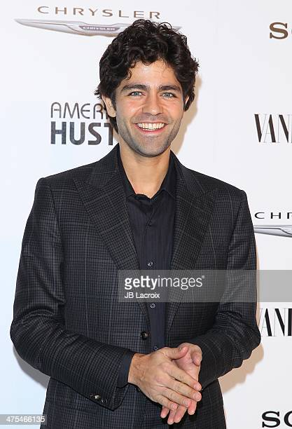 Adrien Grenier attends the Vanity Fair Campaign Hollywood Chrysler Toasts The Cast Of 'American Hustle' held at Ago Restaurant on February 27 2014 in...