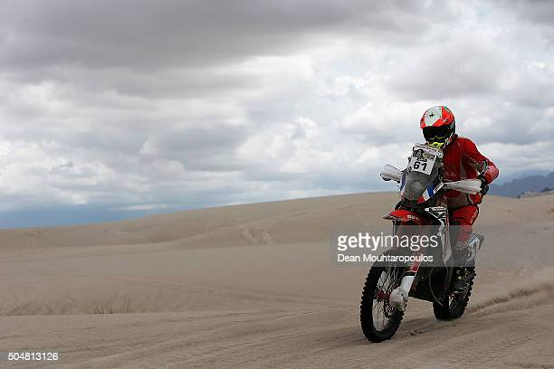 Adrien Metge of France riding on and for HONDA BRASIL competes on day 11 stage ten between Belen and La Rioja during the 2016 Dakar Rally on January...
