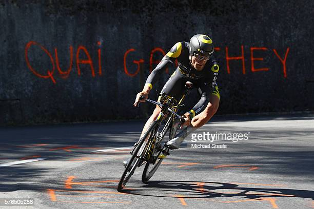 Adrien Petit of France and Direct Energie during the 37km Individual Time Trial stage thirteen of Le Tour de France from BourgSaintAndeol to La...