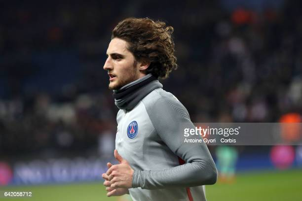 Adrien Rabiot during the UEFA Champions League Round of 16 first leg match between Paris SaintGermain and FC Barcelona at Parc des Princes on...