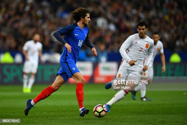 Adrien Rabiot of France looks for space during the International Friendly match between France and Spain at the Stade de France on March 28 2017 in...