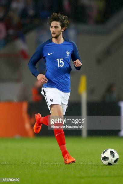 Adrien Rabiot of France runs with the ball during the international friendly match between Germany and France at RheinEnergieStadion on November 14...