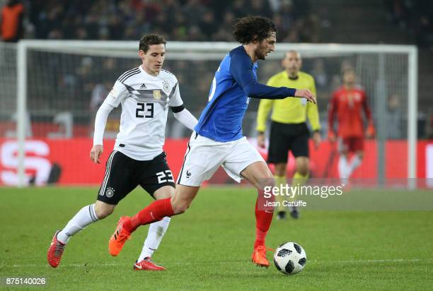 Adrien Rabiot of France Sebastian Rudy of Germany during the international friendly match between Germany and France at RheinEnergieStadion on...