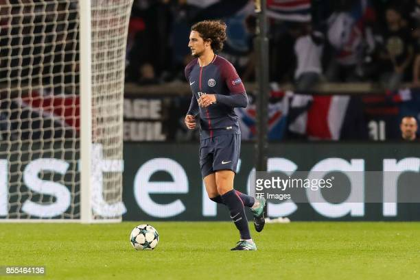 Adrien Rabiot of Paris SaintGermain controls the ball during the UEFA Champions League group B match between Paris SaintGermain of Paris SaintGermain...