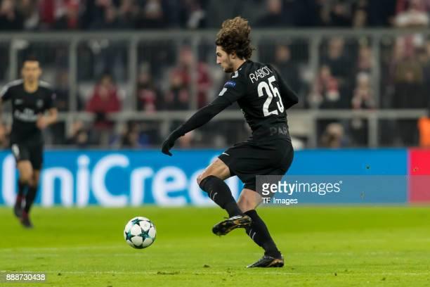 Adrien Rabiot of Paris SaintGermain controls the ball during the UEFA Champions League group B match between Bayern Muenchen and Paris SaintGermain...