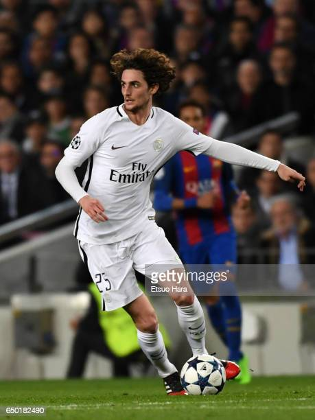 Adrien Rabiot of Paris SaintGermain in action during the UEFA Champions League Round of 16 second leg match between FC Barcelona and Paris...