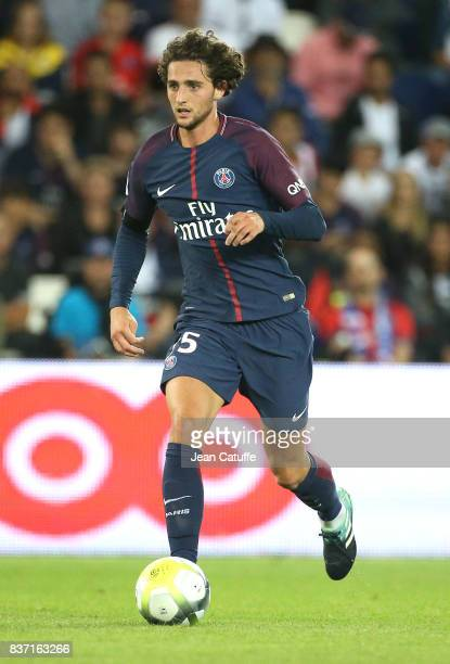 Adrien Rabiot of PSG during the French Ligue 1 match between Paris Saint Germain and Toulouse FC at Parc des Princes on August 20 2017 in Paris France