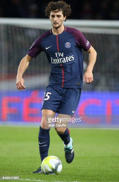 Adrien Rabiot of PSG during the French Ligue 1 match between Paris Saint Germain and Olympique Lyonnais at Parc des Princes on September 17 2017 in...