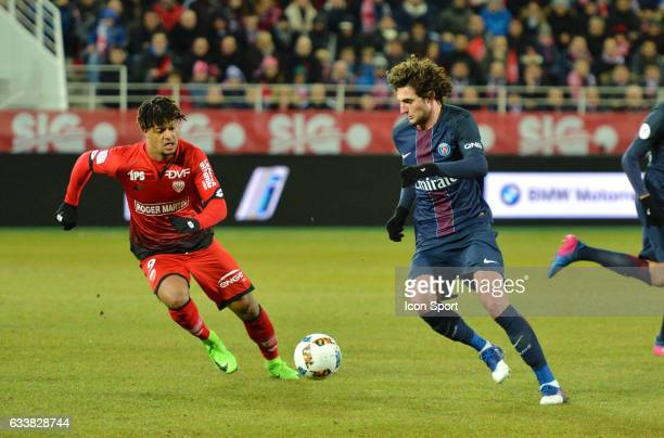 Adrien Rabiot of PSG during the Ligue 1 match between Dijon DCO and Paris Saint Germain at Stade Gaston Gerard on February 4 2017 in Dijon France