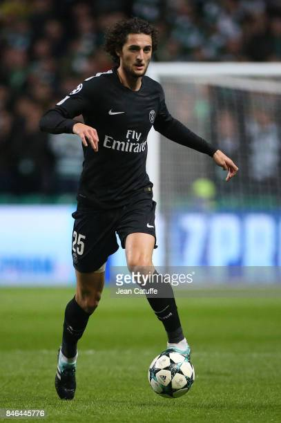 Adrien Rabiot of PSG during the UEFA Champions League match between Celtic Glasgow and Paris Saint Germain at Celtic Park on September 12 2017 in...