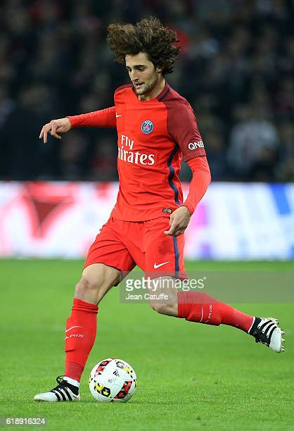 Adrien Rabiot of PSG in action during the French Ligue 1 match between Lille OSC and Paris Saint Germain at Stade PierreMauroy on October 28 2016 in...