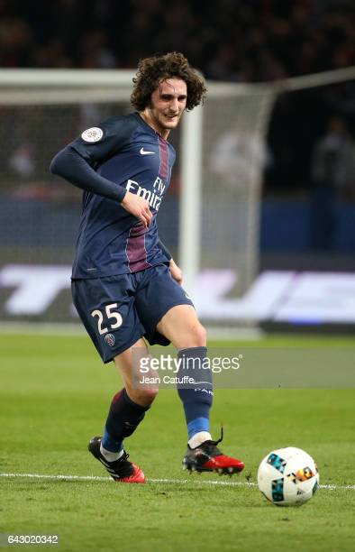 Adrien Rabiot of PSG in action during the French Ligue 1 match between Paris SaintGermain and Toulouse FC at Parc des Princes stadium on February 19...