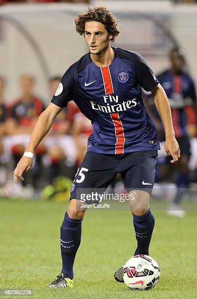 Adrien Rabiot of PSG in action during the International Champions Cup 2015 game between Manchester United and Paris SaintGermain at Soldier Field on...