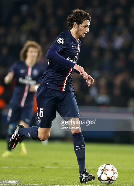 Adrien Rabiot of PSG in action during the UEFA Champions League Group F match between Paris SaintGermain FC and Ajax Amsterdam at Parc des Princes...