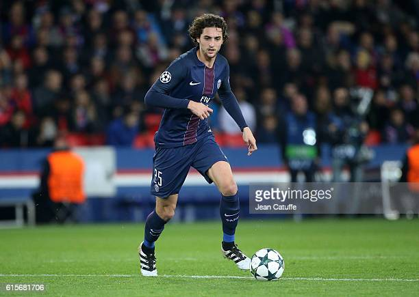 Adrien Rabiot of PSG in action during the UEFA Champions League match between Paris Saint Germain and FC Basel at Parc des Princes on October 19 2016...
