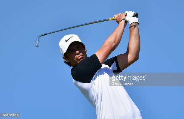 Adrien Saddier of France during tees off on the 4th hole during day three of The Rocco Forte Open at Verdura Golf and Spa Resort on May 20 2017 in...