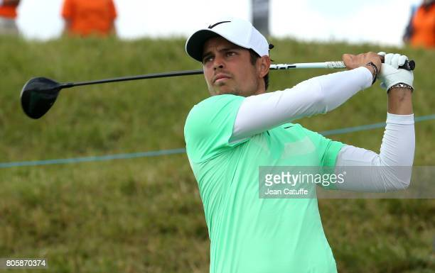 Adrien Saddier of France during the HNA Open de France part of the PGA European Tour at Le Golf National golf course on July 2 2017 in...