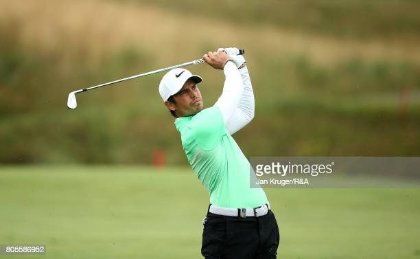 Adrien Saddier of France in action during the final round of the HNA Open de France at Le Golf National on July 2 2017 in Paris France
