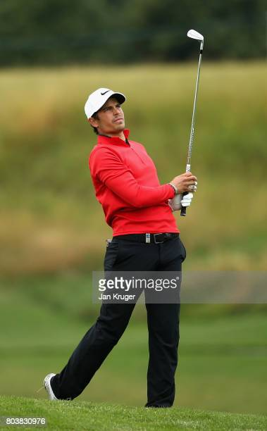 Adrien Saddier of France on the 18th during day two of the HNA Open de Feance at Le Golf National on June 30 2017 in Paris France