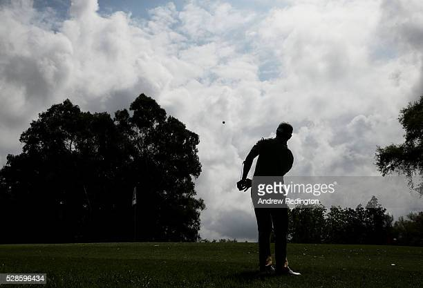 Adrien Saddier of France plays his third shot on the 16th hole during the second round of the Trophee Hassan II at Royal Golf Dar Es Salam on May 6...