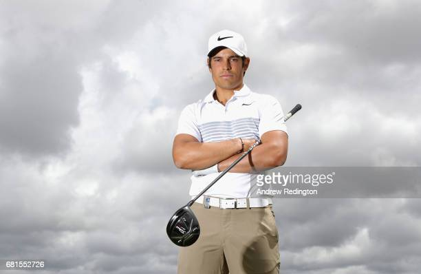 Adrien Saddier of France poses for a portrait during the Open de Portugal at Morgado Golf Resort on May 10 2017 in Portimao Portugal