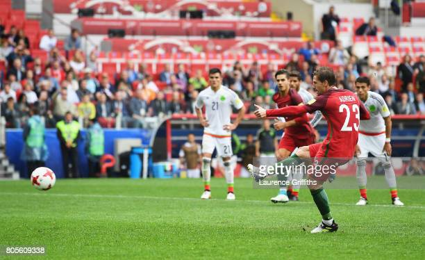 Adrien Silva of Portugal scores his sides second goal from the penalty spot during the FIFA Confederations Cup Russia 2017 PlayOff for Third Place...