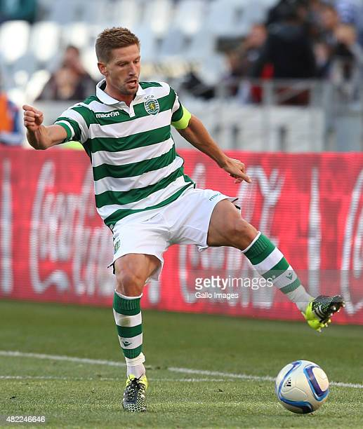 Adrien Silva of Sporting Club de Portugal during the 2015 Cape Town Cup Final match between Crystal Palace FC and Sporting Lisbon at Cape Town...