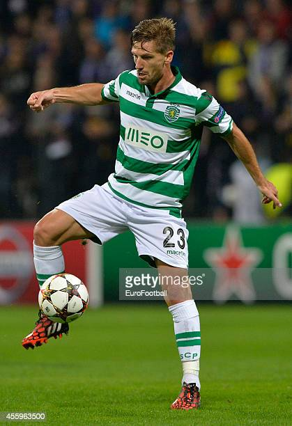 Adrien Silva of Sporting Clube de Portugal in action during the UEFA Group G Champions League football match between NK Maribor and Sporting Lisbon...