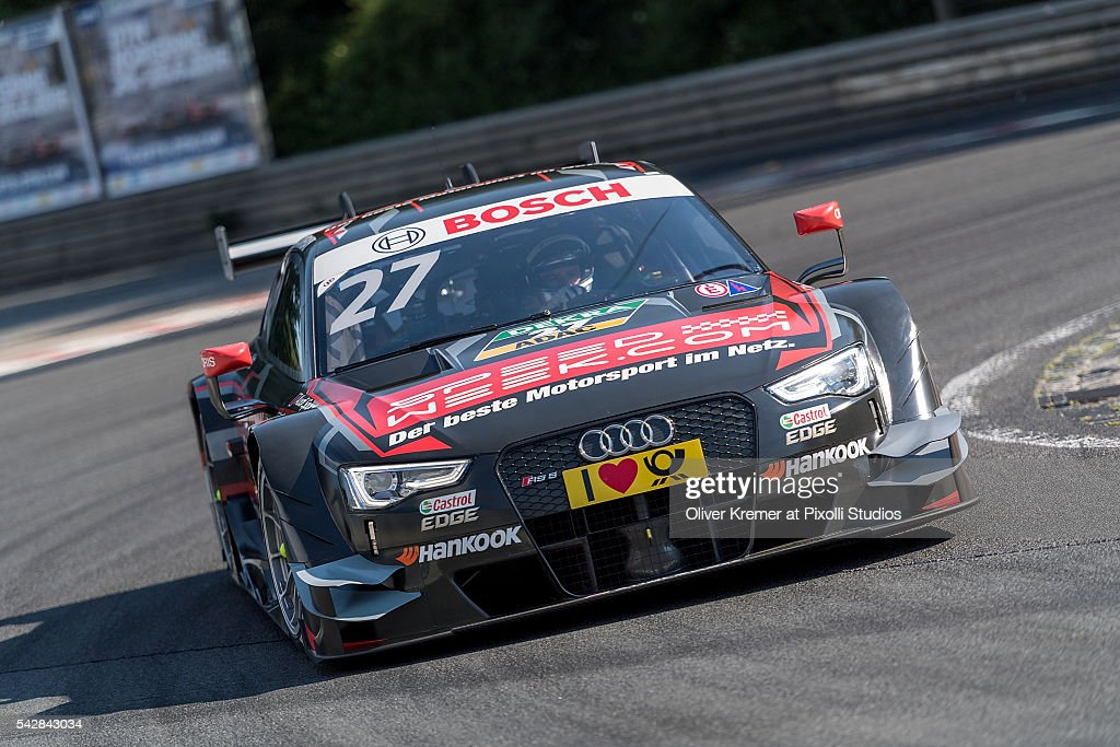 Adrien Tambay (FRA) of DTM Audi Sport Team Rosberg performing at a free practice session at the Norisring during Day 1 of the German Touring Car Championship 2016 - Session 4 on June 24, 2016 in Nuremberg, Germany.