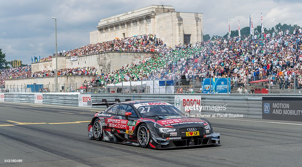 Adrien Tanbay (FRA) of Audi Sport Team Rosberg racing for the German Touring Car Championship at the Norisring during Day 3 of the 74. International ADAC Norisring Speedweekend on June 26, 2016 in Nuremberg, Germany.