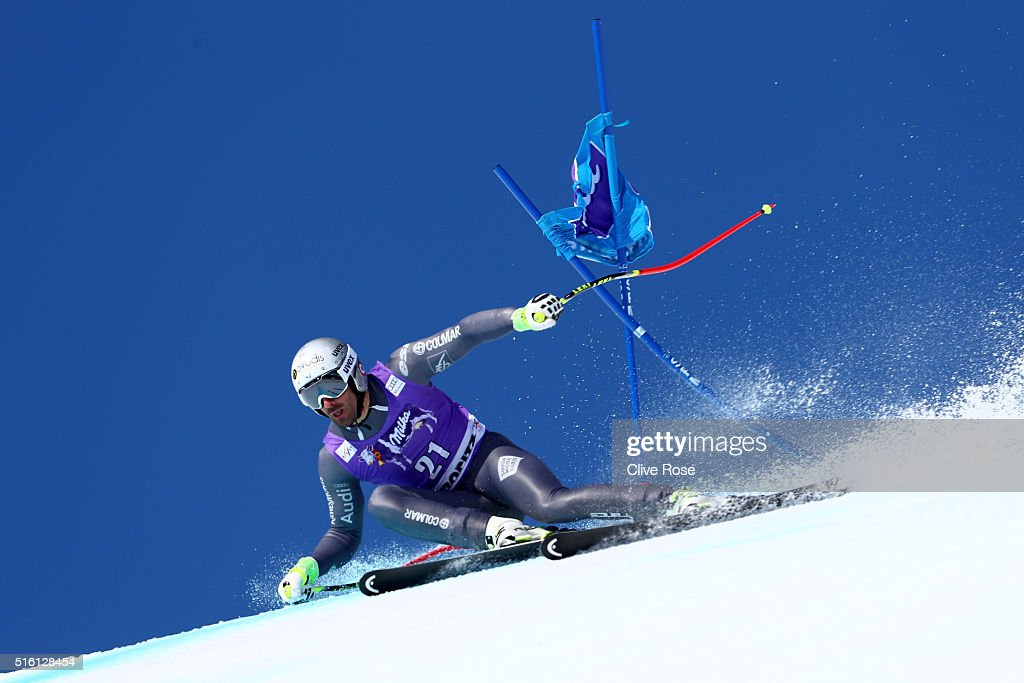 <a gi-track='captionPersonalityLinkClicked' href=/galleries/search?phrase=Adrien+Theaux&family=editorial&specificpeople=2138351 ng-click='$event.stopPropagation()'>Adrien Theaux</a> of France competes during the Audi FIS Alpine Ski World Cup Finals Men's and Women's Super-G on March 17, 2016 in St. Moritz, Switzerland.