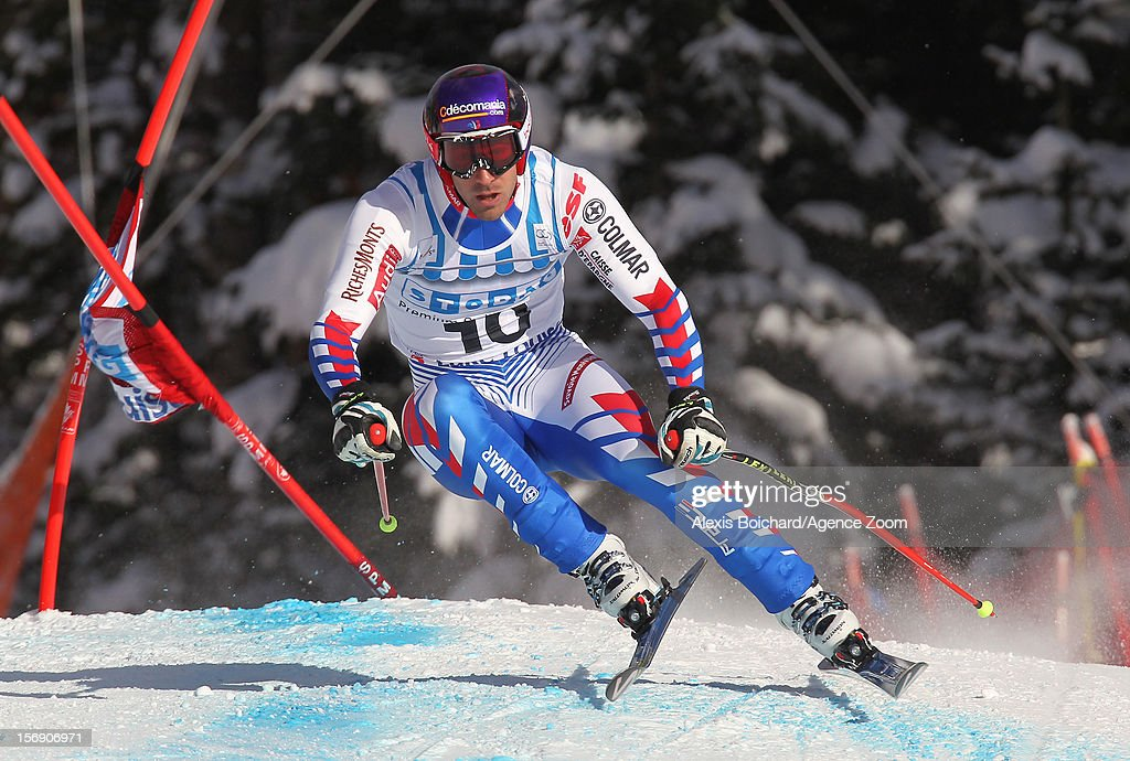 <a gi-track='captionPersonalityLinkClicked' href=/galleries/search?phrase=Adrien+Theaux&family=editorial&specificpeople=2138351 ng-click='$event.stopPropagation()'>Adrien Theaux</a> of France during the Audi FIS Alpine Ski World Cup Men's Downhill on November 24, 2012 in Lake Louise, Alberta, Canada.