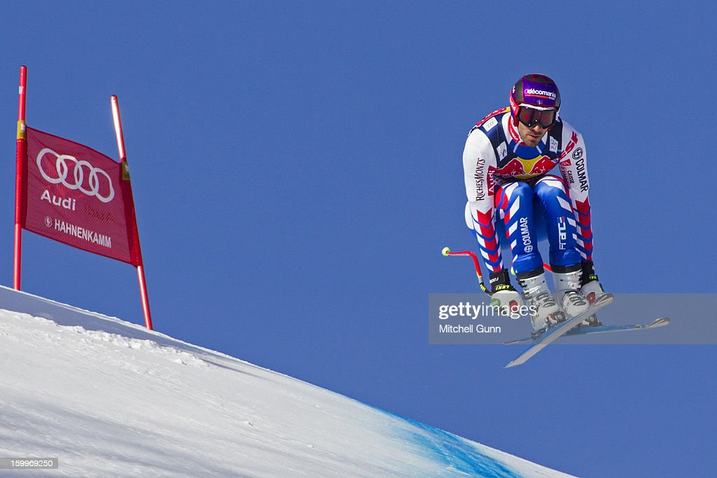 <a gi-track='captionPersonalityLinkClicked' href=/galleries/search?phrase=Adrien+Theaux&family=editorial&specificpeople=2138351 ng-click='$event.stopPropagation()'>Adrien Theaux</a> of France races down the Hahnenkamm Course during the Audi FIS Alpine Ski World Cup Downhill third official training session on January 24, 2013 in Kitzbuhel, Austria,