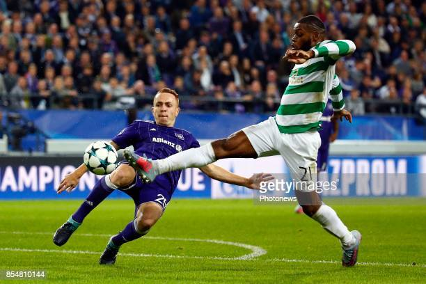 Adrien Trebel midfielder of RSC Anderlecht and Olivier Ntcham midfielder of Celtic FC during the Champions League Group B match between RSC...