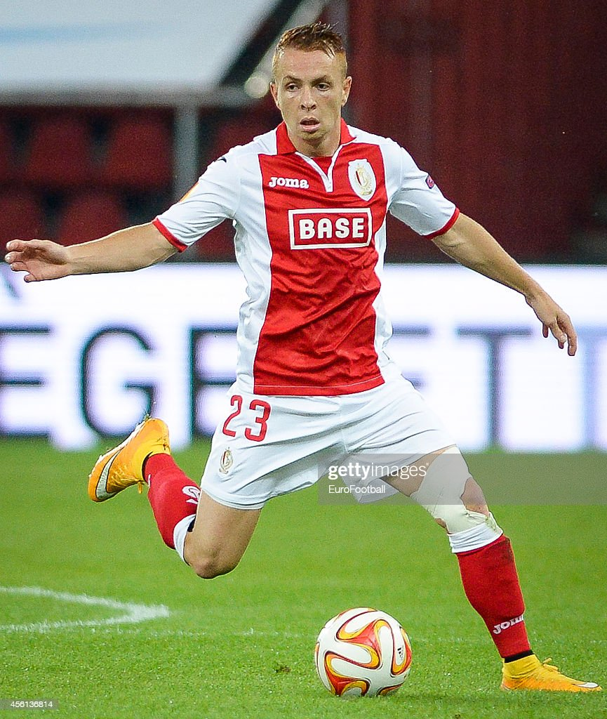Adrien Trebel of Standard de Liege in action during the UEFA Europa League Group G match between R Standard de Liege and HNK Rijeka at the Stade...