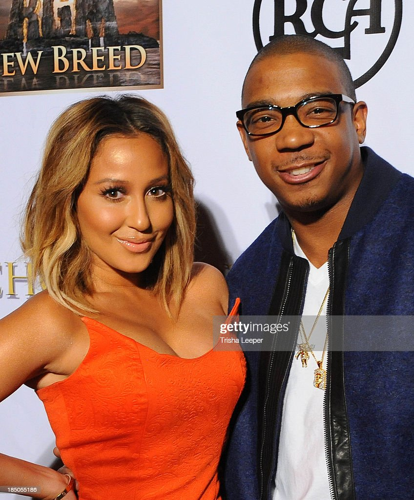 <a gi-track='captionPersonalityLinkClicked' href=/galleries/search?phrase=Adrienne+Bailon&family=editorial&specificpeople=540286 ng-click='$event.stopPropagation()'>Adrienne Bailon</a> and <a gi-track='captionPersonalityLinkClicked' href=/galleries/search?phrase=Ja+Rule&family=editorial&specificpeople=202108 ng-click='$event.stopPropagation()'>Ja Rule</a> attend the 'I'm In Love With A Church Girl' premiere at California Theatre on October 15, 2013 in San Jose, California.