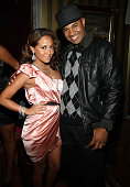Adrienne Bailon and Lenny S attend Adrienne Bailon's birthday dinner at Le Souk Harem on October 28 2009 in New York City