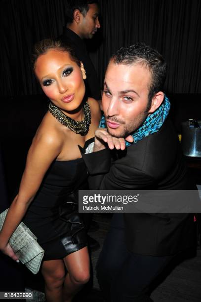 Adrienne Bailon and Micah Jesse attend American Red Cross Concern Worldwide and The Edeyo Foundation Fundraiser at 1 OAK on January 21 2010 in New...