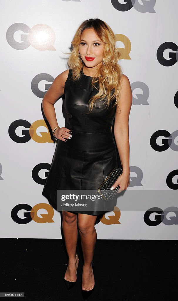 Adrienne Bailon arrives at the GQ Men Of The Year Party at Chateau Marmont Hotel on November 13, 2012 in Los Angeles, California.