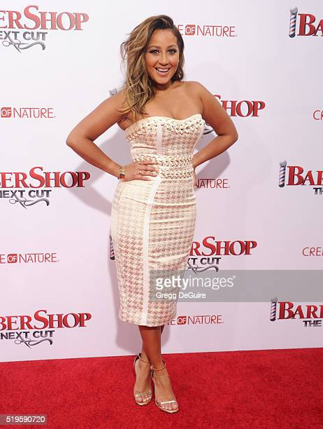 Adrienne Bailon arrives at the premiere of New Line Cinema's 'Barbershop The Next Cut' at TCL Chinese Theatre on April 6 2016 in Hollywood California